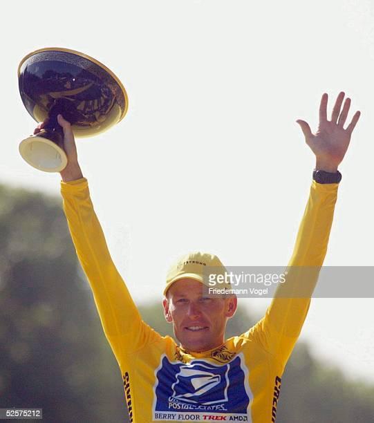 Radsport: Tour de France 2004, 20. Etappe / Montereau - Paris ; Sieger der Tour de France 2004, Lance ARMSTRONG / USA - Postal - 25.07.04.