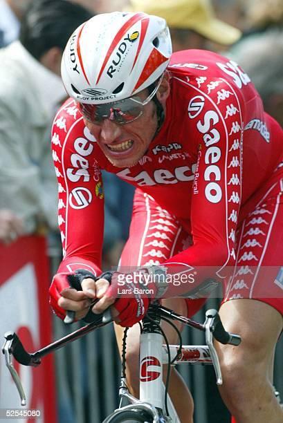 Radsport: Tour de France 2004, Prolog / Luettich; Einzelzeitfahren; Joerg LUDEWIG / GER / Saeco 03.07.04.