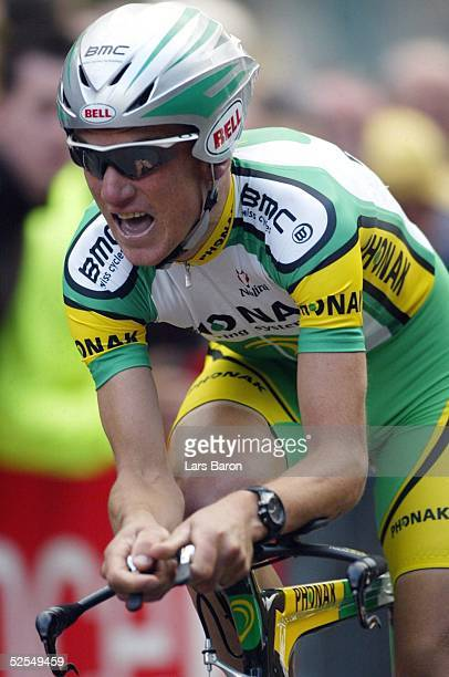 Radsport: Tour de France 2004, Prolog / Luettich; Einzelzeitfahren; Tyler HAMILTON / USA / Phonak 03.07.04.