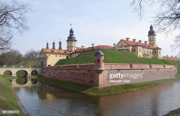 radziwill family complex at nesvizh - historical geopolitical location stock photos and pictures
