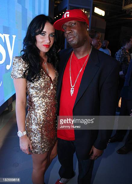 Rae and Grandmaster Flash attend DJ Cassidy's 30th birthday celebration and the one year anniversary of Hennessy Black at the Intrepid SeaAirSpace...