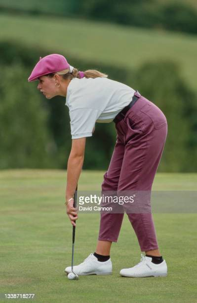 Rae Bell putting on the green during the Weetabix Women's British Open golf tournament on 2nd August 1987 at the St Mellion Golf Club near St...