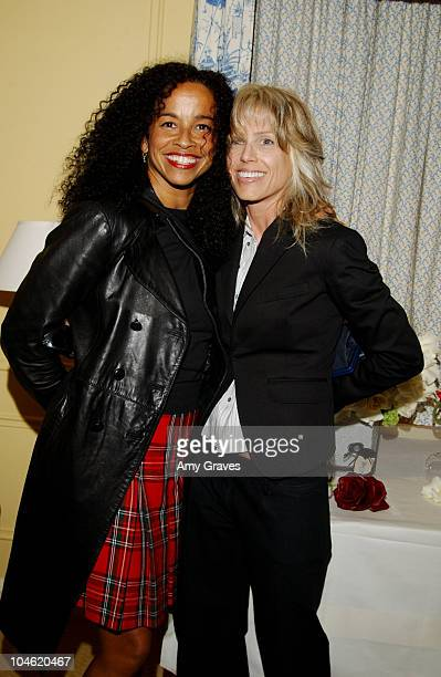 Rae Dawn Chong and Tracey Ross during Jimmy Choo Shoe Collection Suite at Peninsula Hotel in Beverly Hills California United States