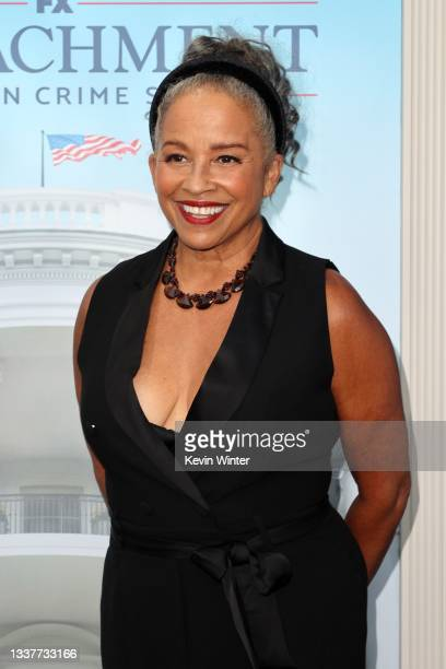 """Rae Dawn Chong attends the premiere of FX's """"Impeachment: American Crime Story"""" at Pacific Design Center on September 01, 2021 in West Hollywood,..."""