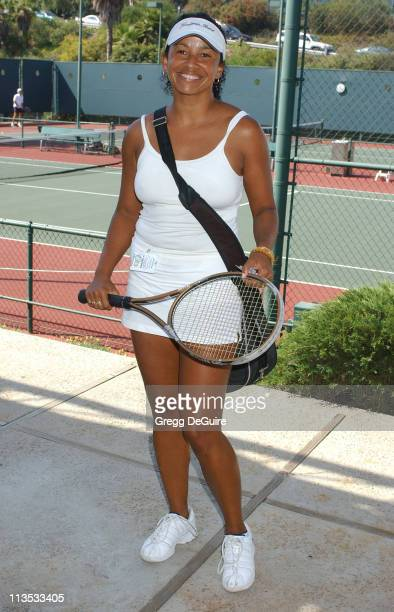 Rae Dawn Chong during Racquet Rumble 2004 Celebrity Tennis Tournament at Riviera Tennis Club in Pacific Palisades California United States