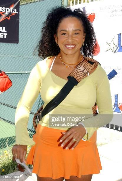 Rae Dawn Chong during TJ Martell / Neil Bogart Foundation 2006 Racquet Rumble Tennis Tournament at Riviera Tennis Club in Los Angeles California...