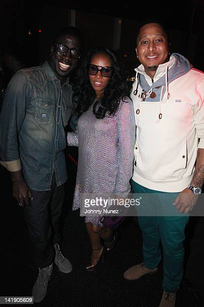 458b804857fc Rae Holiday June Ambrose and Gabriel Williams attend the Selima for June  Ambrose Sunglasses collection at
