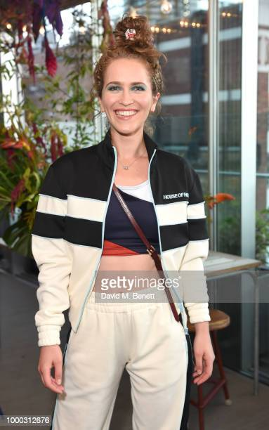 Sarah Ann Macklin attends the launch of the collaboration between House of Holland Papier on July 16 2018 in London England The collaboration came...