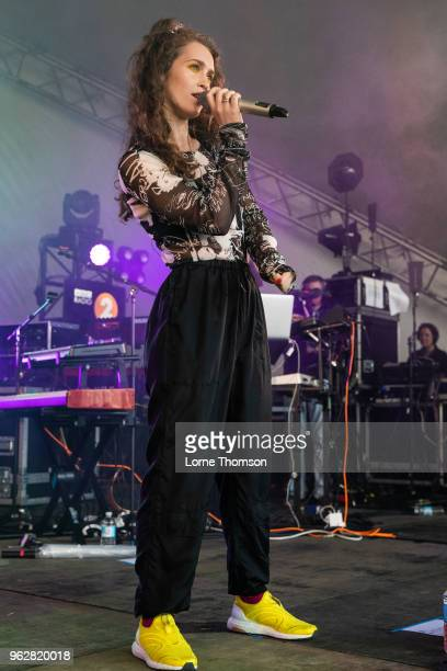 Rae Morris performs at BBC Radio The Biggest Weekend at Scone Palace on May 26 2018 in Perth Scotland