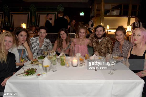 Rae Morris Renee Stewart Charli Scott and guests attend Mulberry Supper Club on September 14 2018 in London England