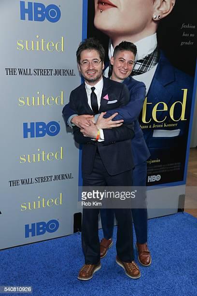 Rae Tutera and Daniel Friedman attend the screening of Suited during BAMcinemaFest 2016 at BAM Rose Cinemas on June 16 2016 in New York City