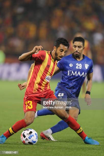 Raed Fadaa of Esperance Sportive de Tunis and Salem Aldawsari of Al Hilal during the FIFA Club World Cup 2nd round match between Al Hilal and...