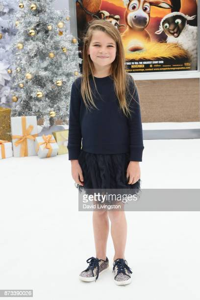 Raegan Revord arrives at the Premiere of Columbia Pictures' The Star at the Regency Village Theatre on November 12 2017 in Westwood California