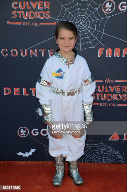 Raegan Revord at the GOOD Foundation's 2nd Annual Halloween Bash at Culver Studios on October 22 2017 in Culver City California