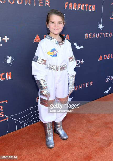 Raegan Revord attends the GOOD Foundation Halloween Bash presented by Beautycounter Delta Air Lines and Farfetch at Culver Studios on October 22 2017...