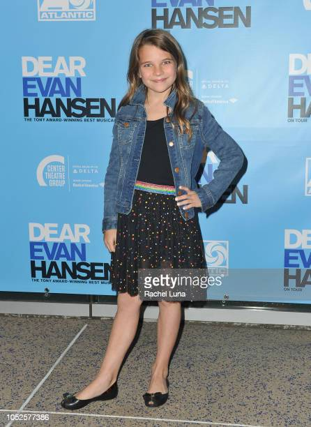 Raegan Revord attends the Los Angeles opening night performance of 'Dear Evan Hansen' at Ahmanson Theatre on October 19 2018 in Los Angeles California