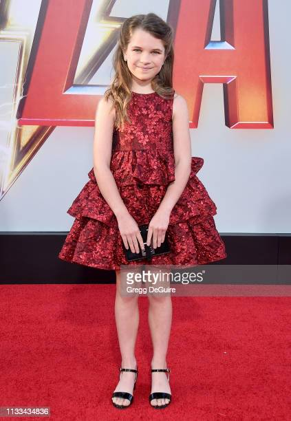 Raegan Revord attends Warner Bros Pictures And New Line Cinema's World Premiere Of SHAZAM at TCL Chinese Theatre on March 28 2019 in Hollywood...
