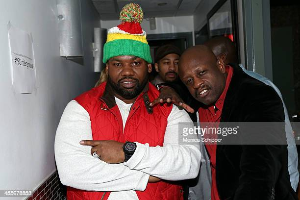 Raekwon and Jerry Wonda attend PS Underground NYC with Grammy Artists Helping Hurricane Sandy Relief hosted by Jerry Wonda and Gina de Franco at...