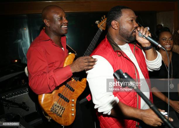 Raekwon and Jerry Wonda perform at PS Underground NYC with Grammy Artists Helping Hurricane Sandy Relief hosted by Jerry Wonda and Gina de Franco at...