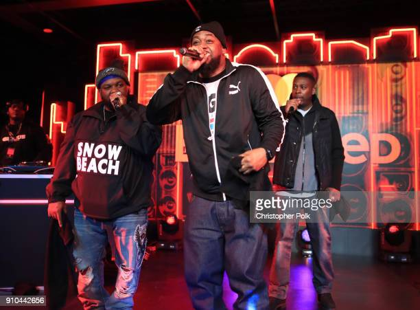Raekwon Ghostface Killah and JZA perform onstage during #TBT Night Presented By Buzzfeed at Mastercard House on January 25 2018 in New York City