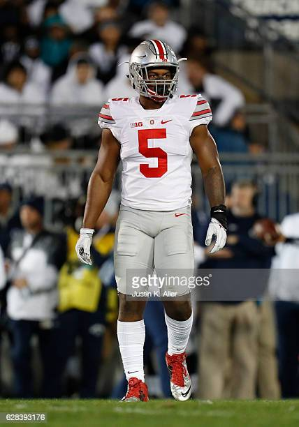 Raekwon McMillan of the Ohio State Buckeyes in action against the Penn State Nittany Lions at Beaver Stadium in State College Pennsylvania on October...
