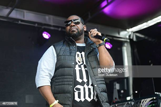 Raekwon of Wu Tang Clan performs onstage during the Rachel Ray Feedback Party at Stubbs BBQ on March 21 2015 in Austin Texas