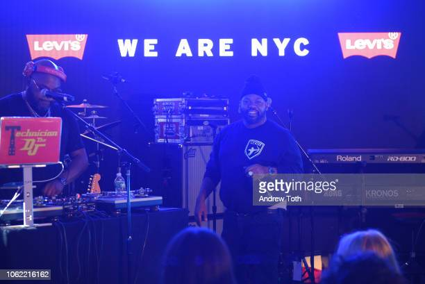 Raekwon performs at the Levi's Times Square Store Opening on November 15 2018 in New York City