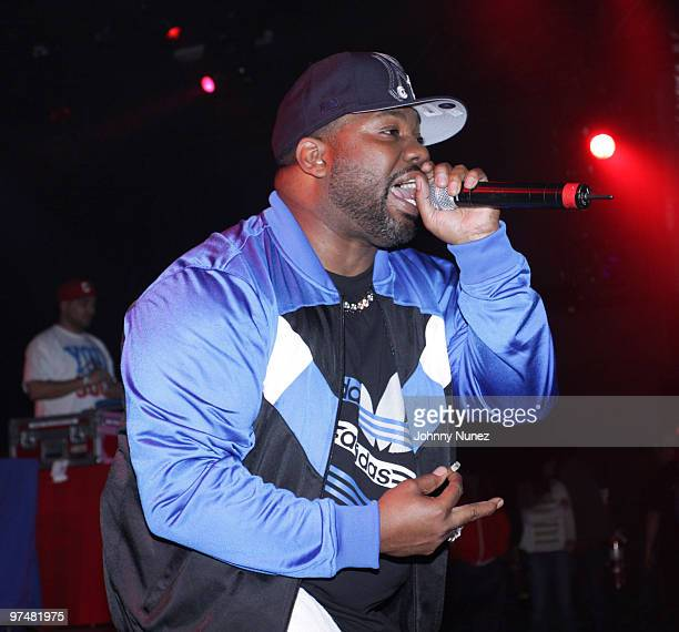 Raekwon performs in HOT 97's Metro PCS 5 Boro Takeover Tour Wu Massacre at the Nokia Theatre on March 5 2010 in New York City