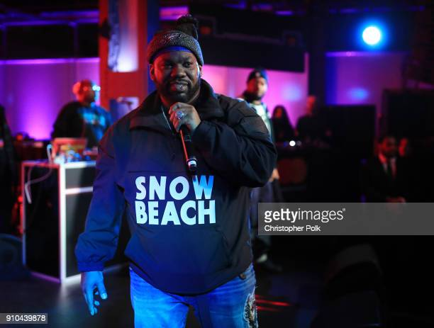 Raekwon performs in the crowd during #TBT Night Presented By BuzzFeed at Mastercard House on January 25 2018 in New York City