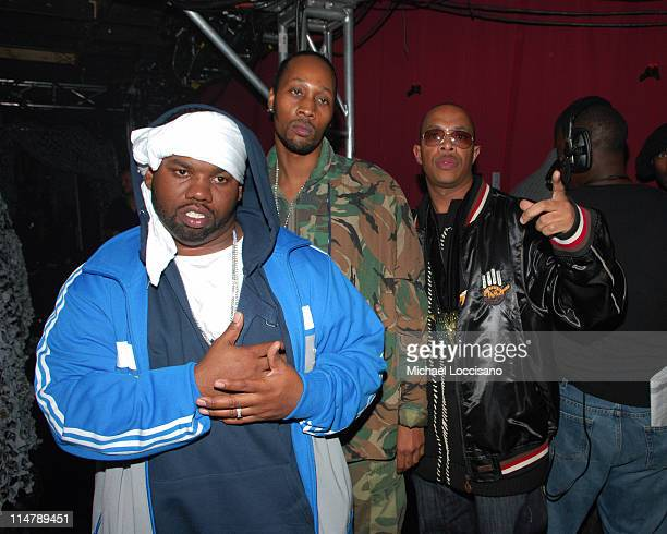 Raekwon Rza and Ugod of WuTang Clan during 2006 VH1 Hip Hop Honors Backstage and Audience at Hammerstein Ballroom in New York City New York United...