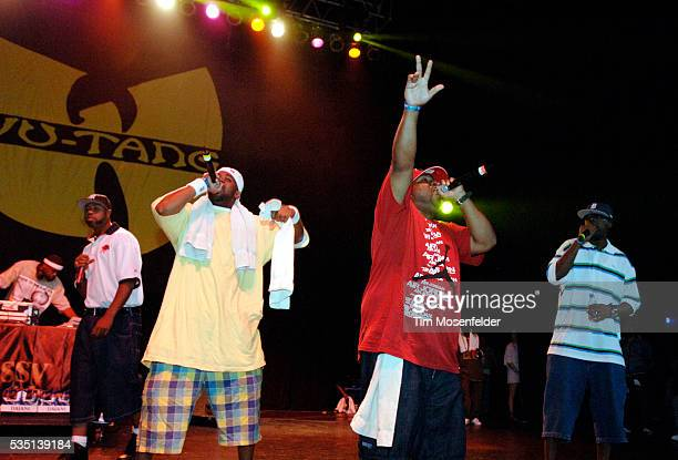 Raekwon the Chef RZA Ghostface Killa Cappadonna and Masta Killa of the WuTang Clan perform as part of Guerilla Union's 'Rock the Bells IV' at the...