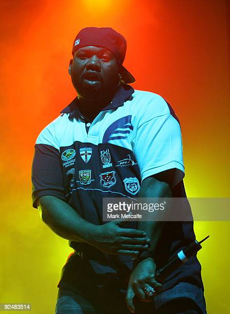 Raekwonn of the WuTang Clan performs on stage at The Enmore Theatre on October 29 2009 in Sydney Australia