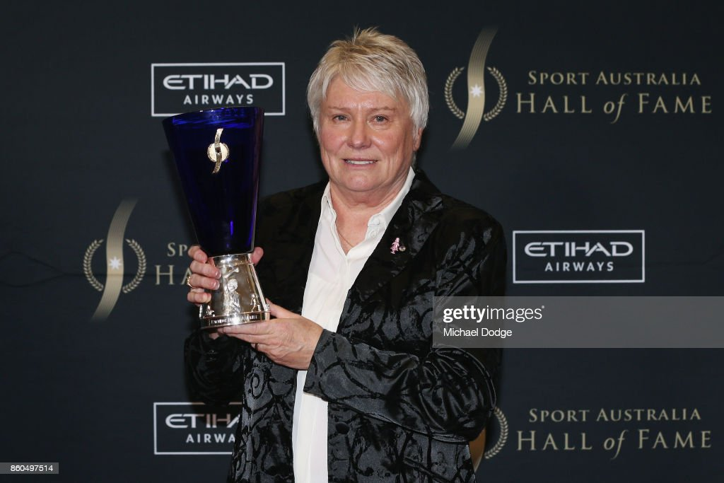 Raelene Boyle poses after being announced The Legend inductee at the Sport Australia Hall of Fame Annual Induction and Awards Gala Dinner at Crown Palladium on October 12, 2017 in Melbourne, Australia.