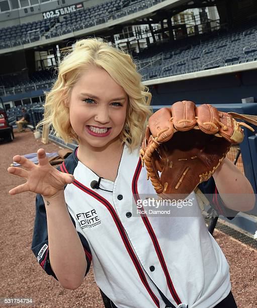 RaeLynn Joins The Nashville Sounds For Warm-Ups To Prep For The 2016 City Of Hope Softball Game at First Tennessee Park on May 16, 2016 in Nashville,...