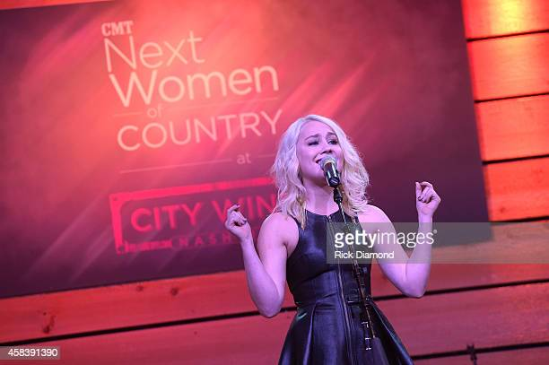 RaeLynn performs at the CMT Next Women Of Country at City Winery Nashville on November 4 2014 in Nashville Tennessee