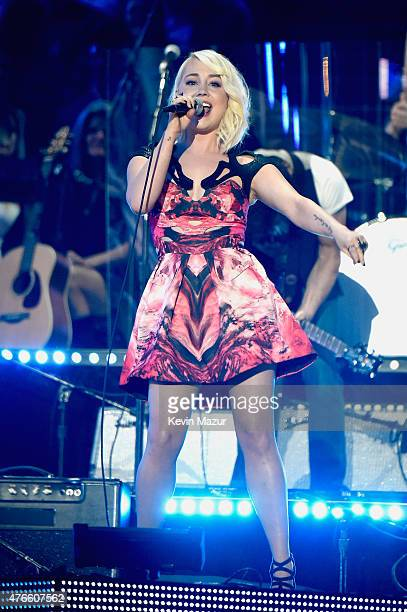 RaeLynn performs onstage during the 2015 CMT Music awards at the Bridgestone Arena on June 10 2015 in Nashville Tennessee
