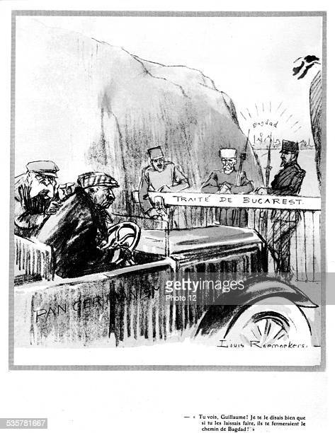 Raemaekers Wilhelm II and the Treaty of Bucharest putting an end to the Balkan wars political cartoon August 10 Germany