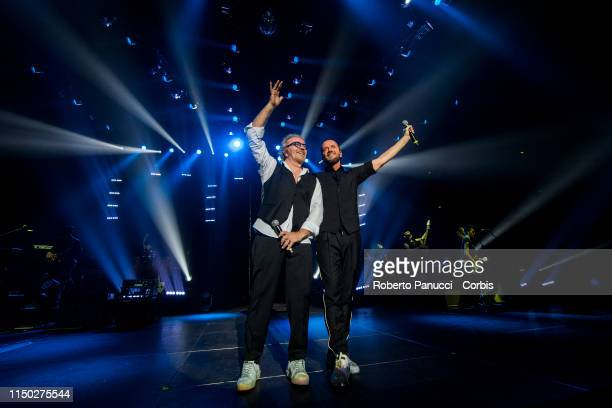 Raf and Umberto Tozzi In Concert on May 18, 2019 in Rome, Italy.