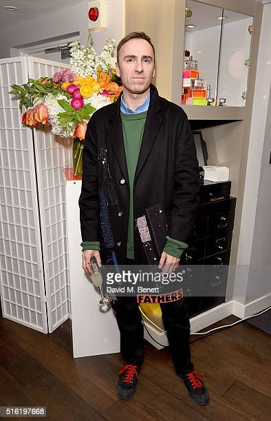 Raf Simons attends the OdeJo Launch Party at Harvey Nichols on March 17 2016 in London England