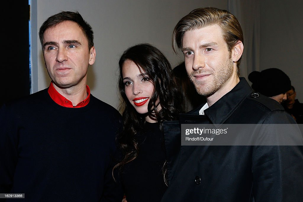 Raf Simons, Chelsea Tyler and her boyfriend Joe Foster attend the Christian Dior Fall/Winter 2013 Ready-to-Wear show as part of Paris Fashion Week on March 1, 2013 in Paris, France.