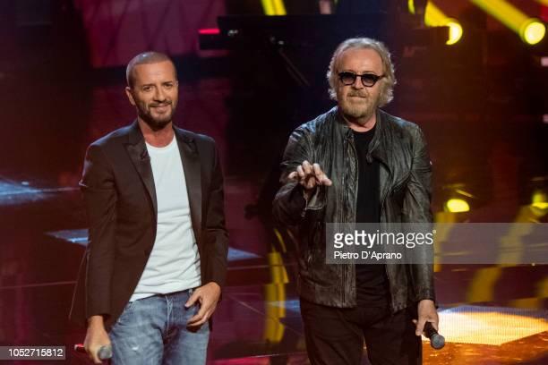 "Raf Umberto Tozzi attends ""Che Tempo Che Fa"" tv show at Rai Milan Studios on October 21, 2018 in Milan, Italy."