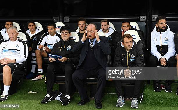 Rafa Benitez manager of Newcastle United during the Sky Bet Championship match between Newcastle United and Wolverhampton Wanderers at St James' Park...