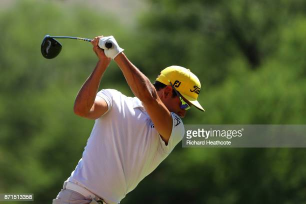 Rafa Cabrera Bello of Spain in action ahead of the 2017 Nedbank Golf challenge at Gary Player CC on November 07 2017 in Sun City South Africa