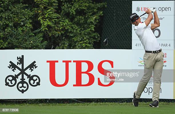 Rafa Cabrera Bello of Spain in action during the pro-am ahead of the UBS Hong Kong Open at The Hong Kong Golf Club on December 7, 2016 in Hong Kong,...