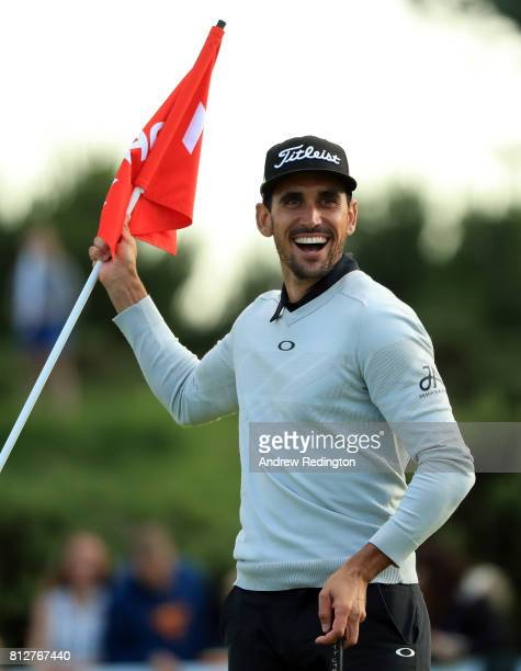 Rafa CabreraBello of Spain is pictured during The Hero Challenge during the AAM Scottish Open at Dundonald Links Golf Course on July 11 2017 in Troon...