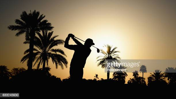Rafa CabreraBello of Spain on the par five 10th hole during the proam event prior to the Omega Dubai Desert Classic at Emirates Golf Club on February...