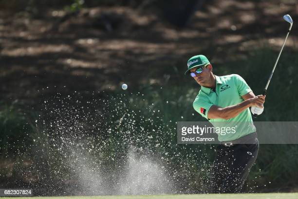 Rafa Cabrera-Bello of Spain plays his third shot on the par 4, 14th hole during the second round of THE PLAYERS Championship on the Stadium Course at...