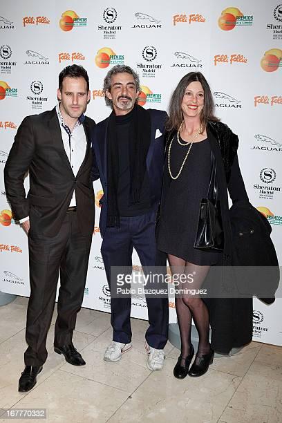 Rafa Garcel Micky Molina and Sandra Blakstad attend 'Orange And Lemon' Awards ceremony at Sheraton Mirasierra Hotel on April 29 2013 in Madrid Spain