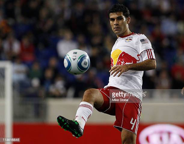 57d505500 Rafa Marquez of the New York Red Bulls plays the ball against the Sporting  KC on