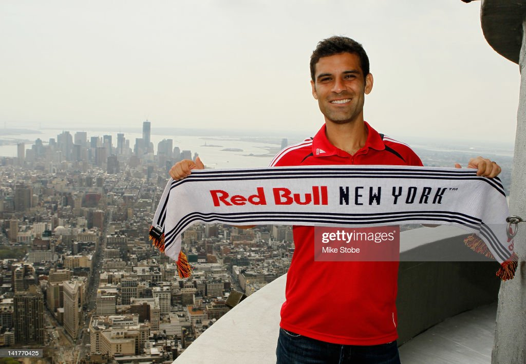 Rafa Marquez of the New York Red Bulls poses for a photo at the Empire State Building on March 23, 2012 in New York City.